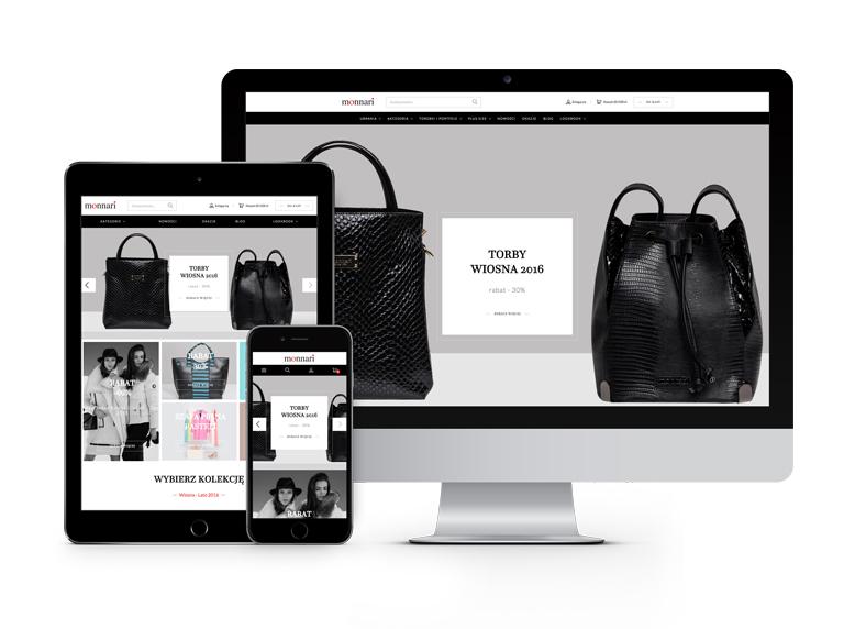 Sklep Monnari w responsive web design